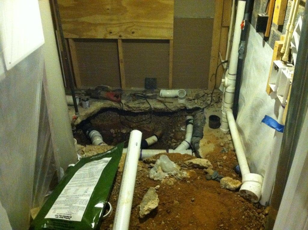 bathroom cover or not to cover beneath my.htm what do you do when your home s sewer line collapses  greater  sewer line collapses