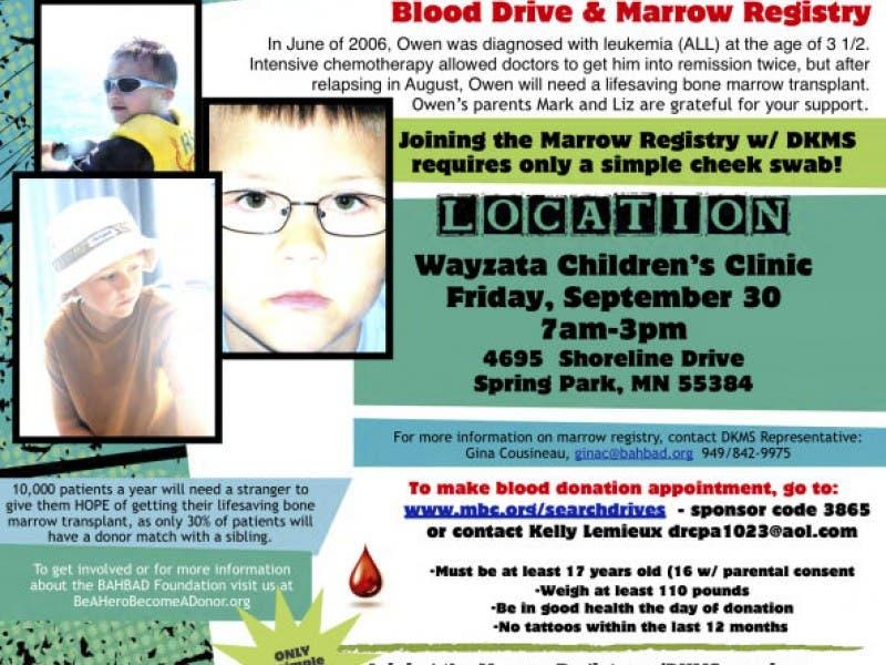 Today Blood And Marrow Drive Lake Minnetonka Mn Patch
