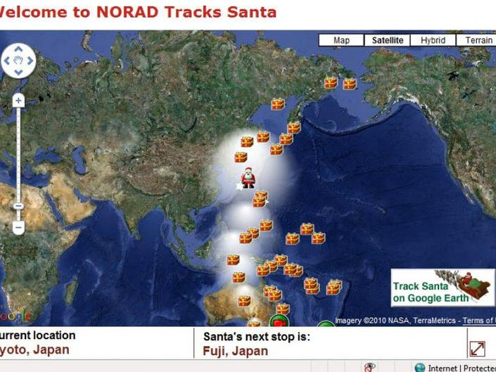 Coming Christmas Eve Morning: Track Santa Live from