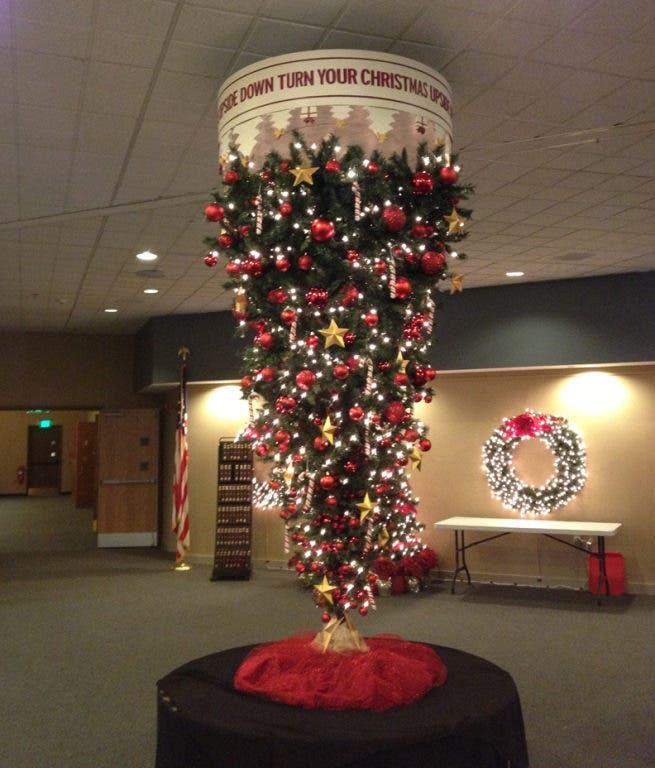 Upside Down Christmas Tree Origin.The Story Behind Grace Chapel S Gravity Defying Upside Down