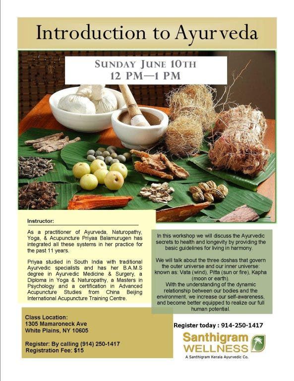 Introduction to Ayurveda   White Plains, NY Patch