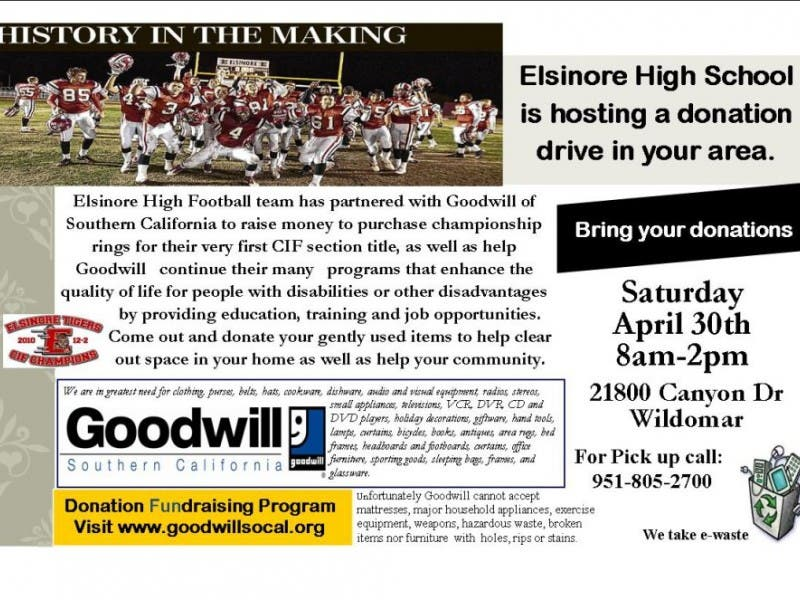 Wildomar\'s First Goodwill Donation Drive | Lake Elsinore, CA Patch