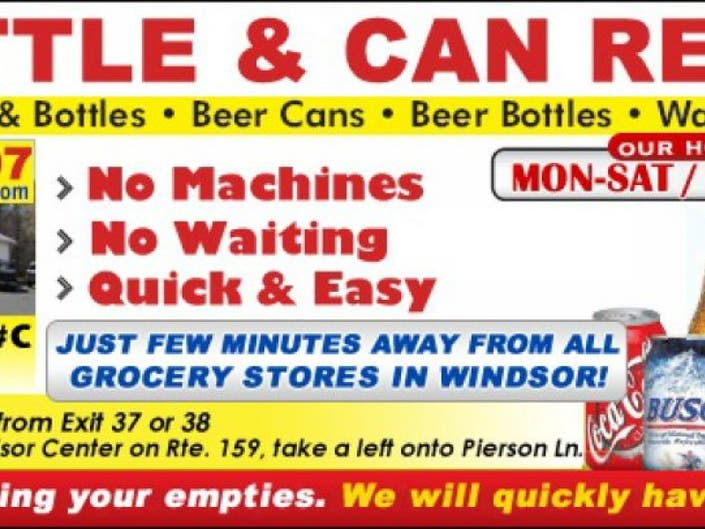 7df7c13c1416 CT Bottle & Can Return * GRAND OPENING * | Windsor, CT Patch