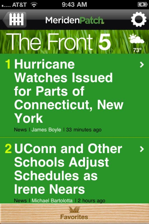No Power Sunday? Follow Our Irene Coverage With The Patch App