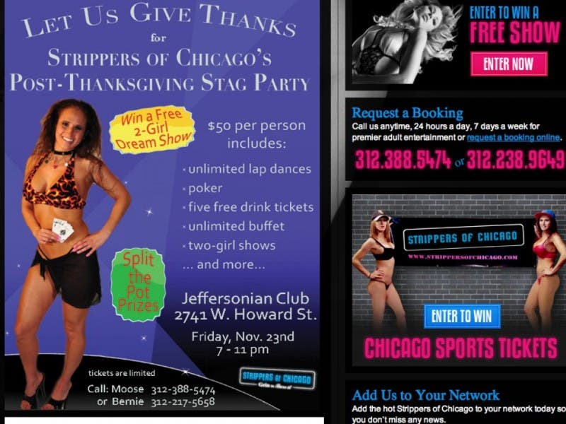 Strippers free shows