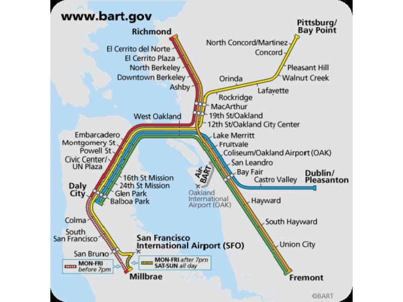 Bart San Francisco Map Stations.Bart Directors Officially Name New Station Pacifica Ca Patch