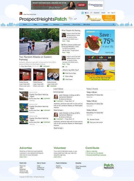 Pleasanton Patch Homepage Changes Have Kicked In
