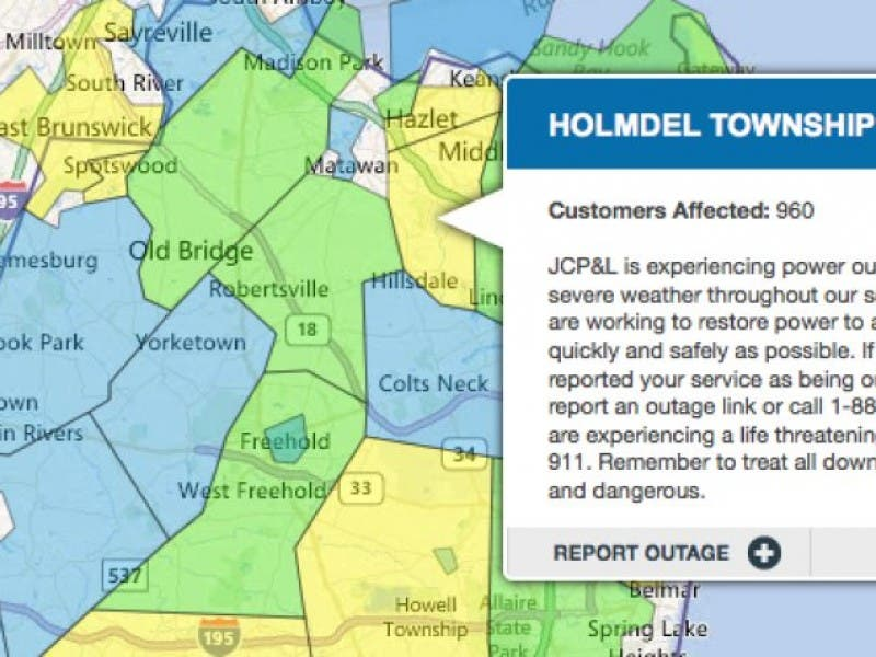 Power Outages In Holmdel And Hazlet Holmdel Nj Patch