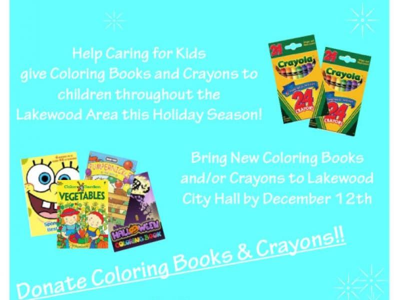 Coloring Book and Crayon Drive   Lakewood, WA Patch