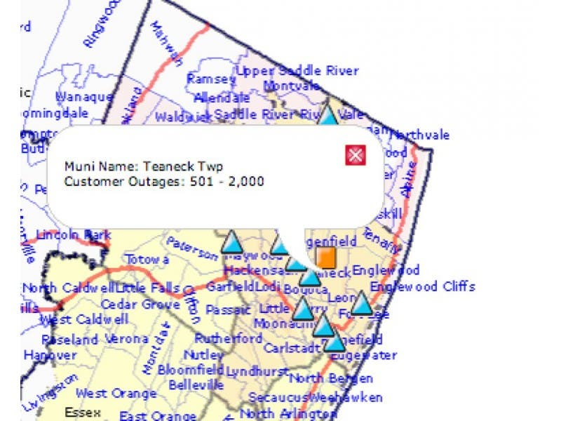 Rutherford Electric Power Outage Map.Update Power Outage Impacts 1 200 Customers Teaneck Nj Patch