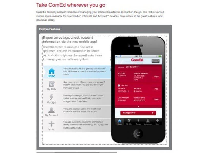 Comed Launches Outage Map Smartphone App Crystal Lake Il Patch