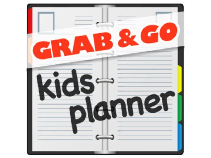 grab and go kids planner family fitness day and spring book fair
