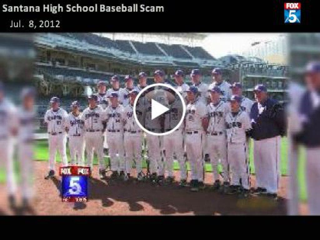 Scam in Santee: Teens Pretend to be Santana Baseball Players