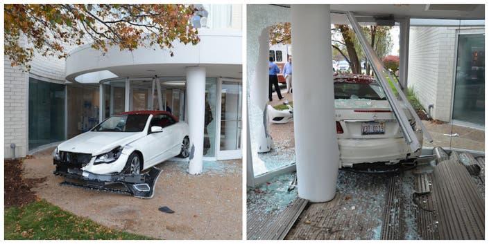 Car Drives Into Vestibule at Oak Brook Center's Neiman