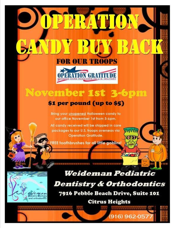 Free Halloween Events Near Citrus Heights 2020 Local Dentists to Buy Back Halloween Candy | Citrus Heights, CA Patch