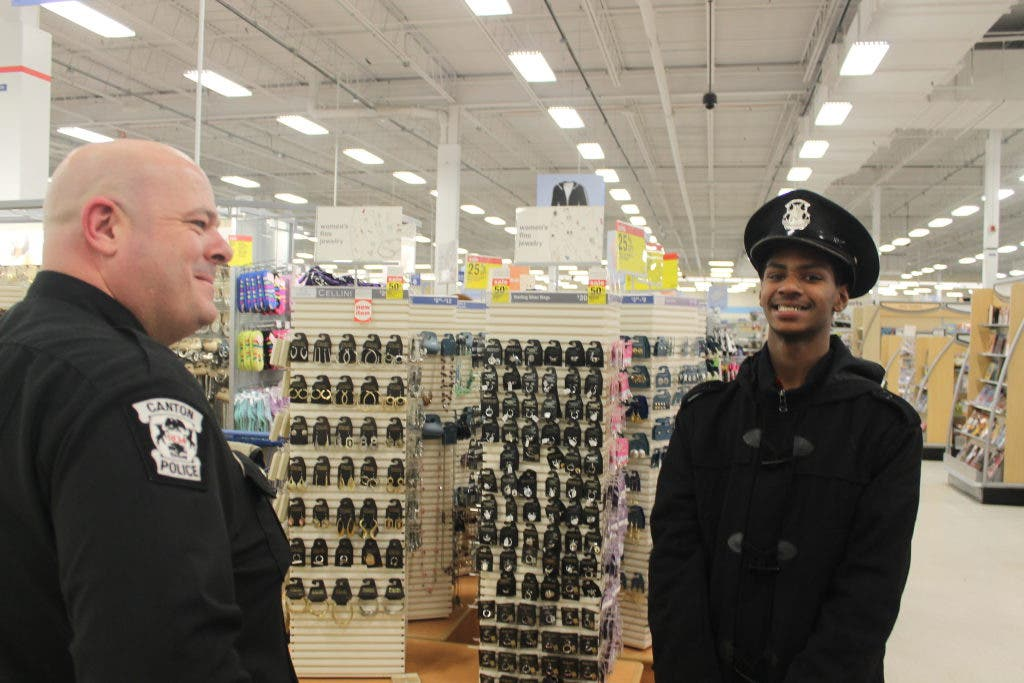 Canton Children Stock Up While Shopping With Cops at Meijer