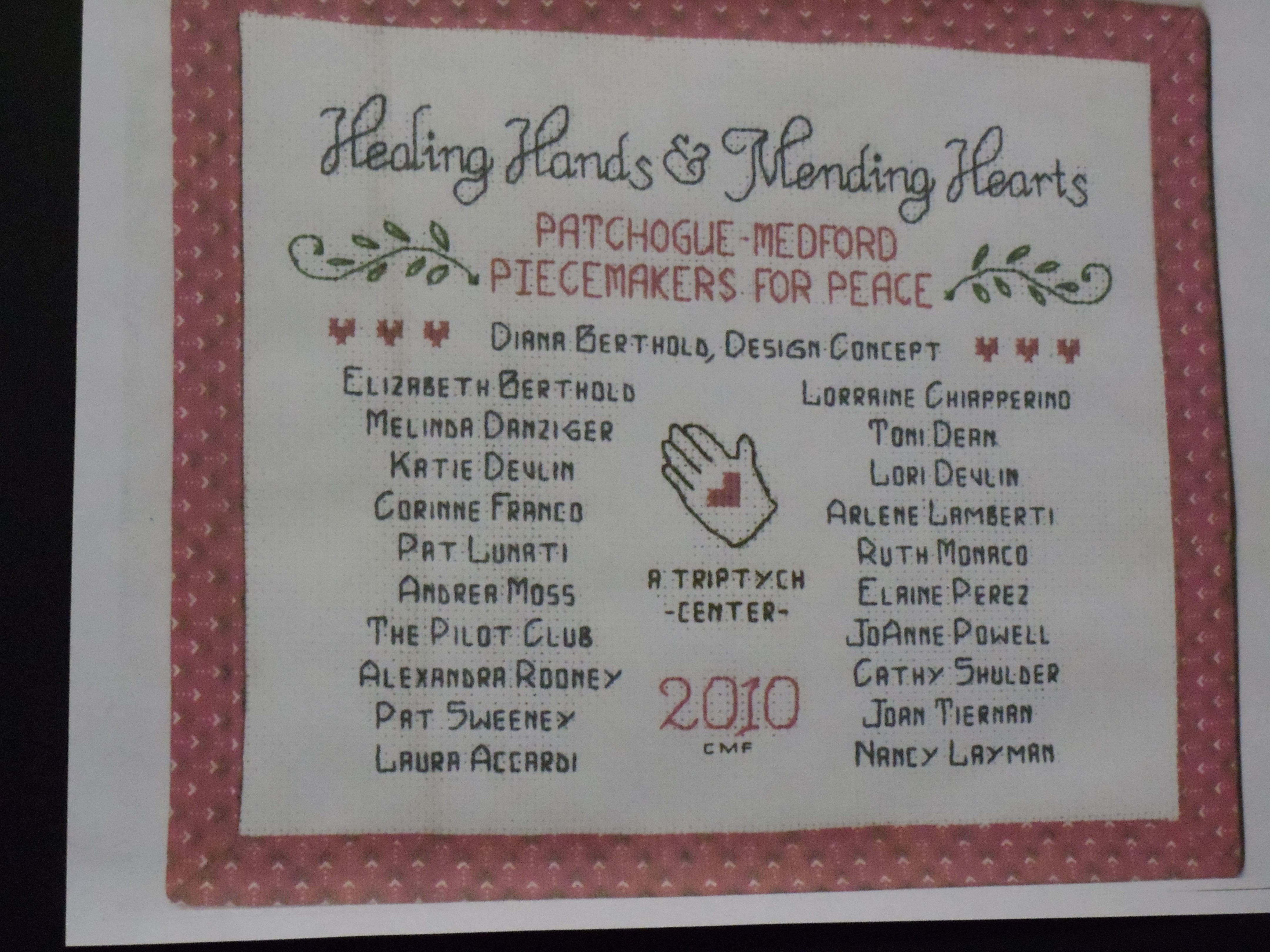 Piece-Makers Unveil Healing Quilt | Patchogue, NY Patch