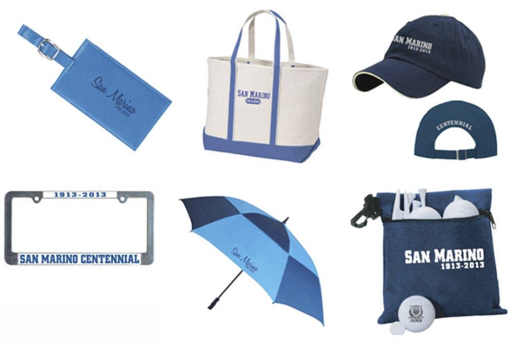San Marino Centennial Merchandise Available Ca