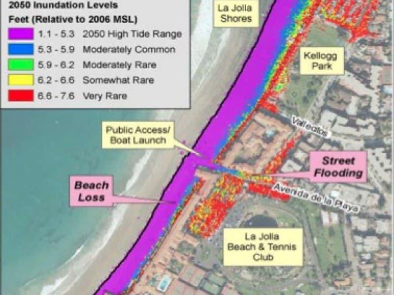 Maps Of San Diego Coast Show Sea Level Rise By 2050 La Jolla Ca Patch