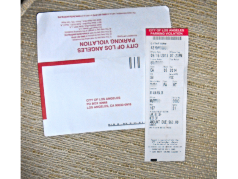 City Of Los Angeles Parking Violation >> Worse Than A Stingray Is The Price Of A Palisades