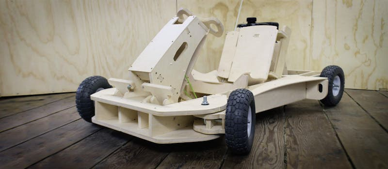 Newport Company Creates Wooden Go-Kart You can Build in One