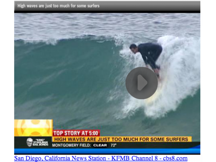 Surfers Get Competive Over Big Waves at Swamis | Carlsbad