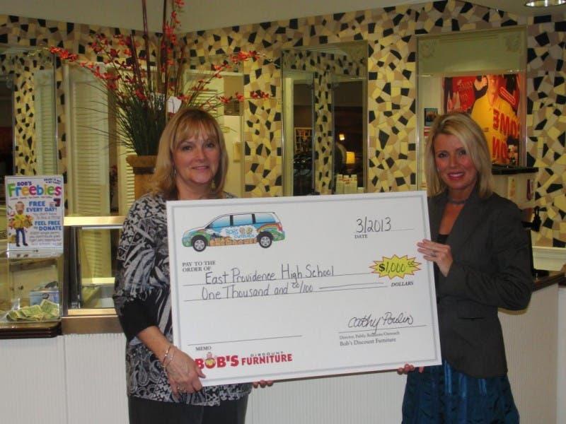 Bob S Donates 1 000 To High School East Providence Ri Patch