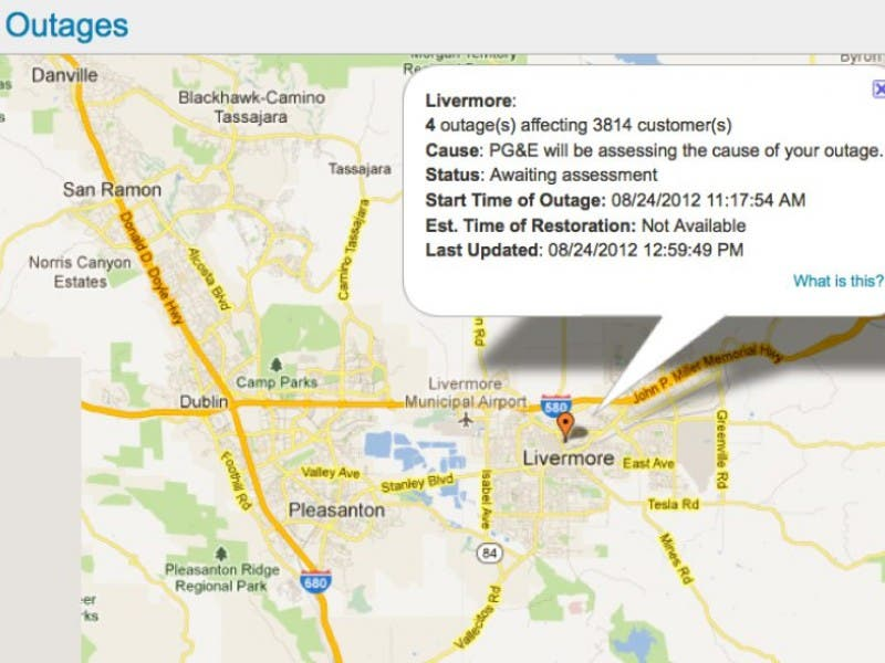 Power Outages Reported In Town Livermore Ca Patch