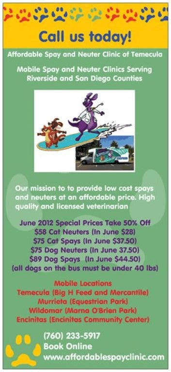 Low Cost Spay and Neuter Mobile Clinic | Lake Elsinore, CA Patch
