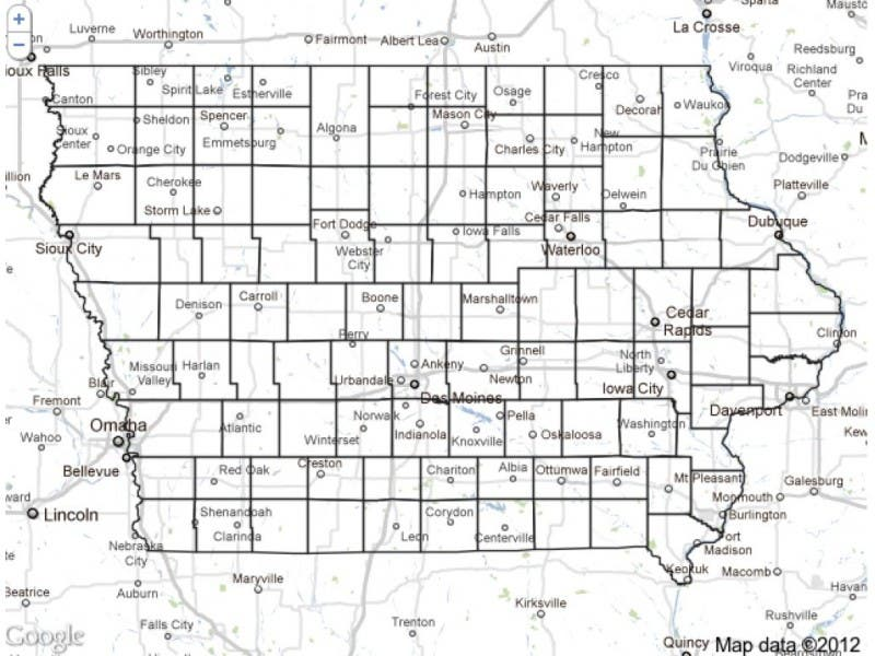 Iowa Map Live Caucus Results By County Iowa City Ia Patch