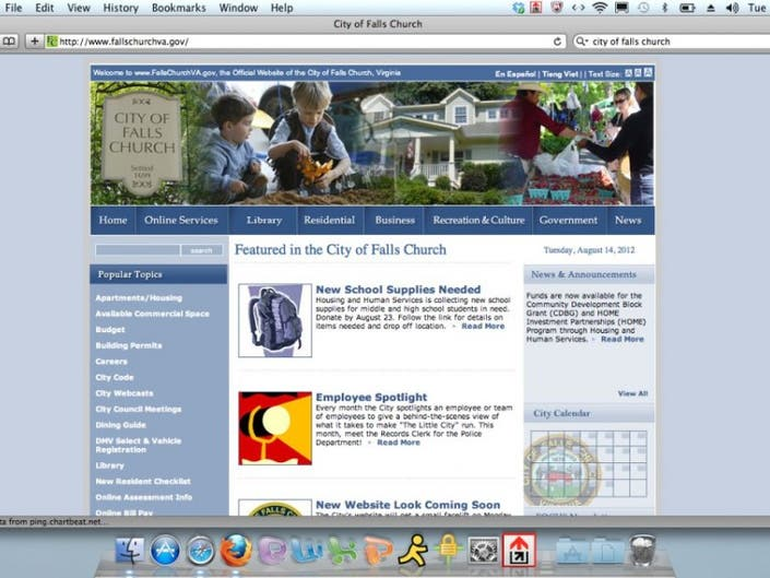 City's Website Getting New Look by Month's End | Falls