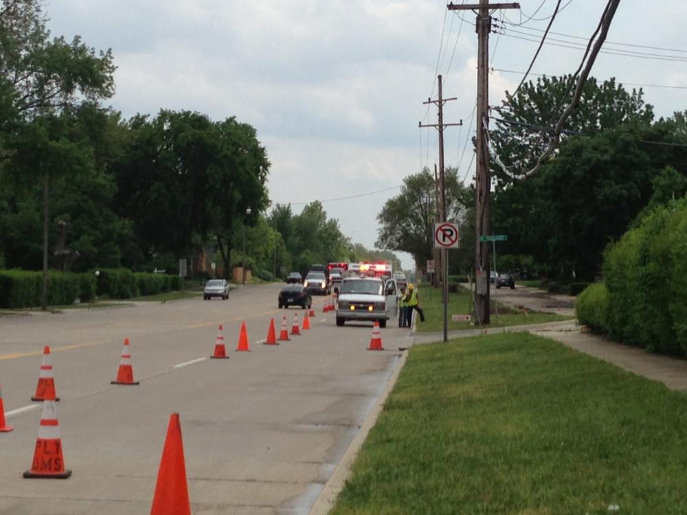 Traffic Delays on Sheldon Road Near M-14 Due to Gas Leak