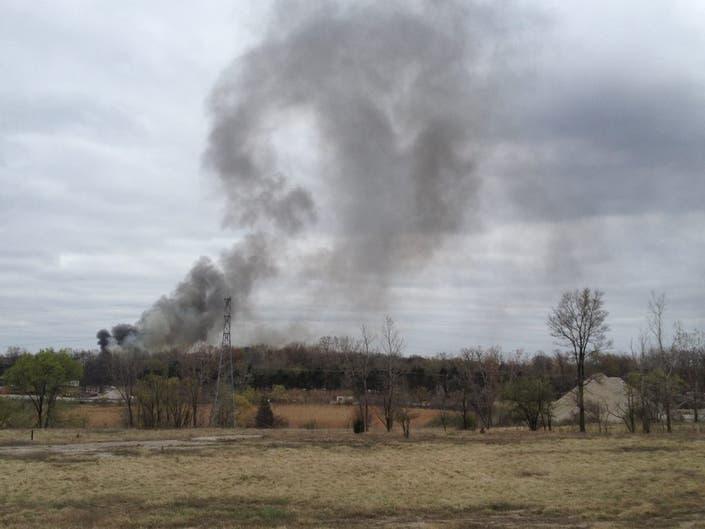 Smoke Cloud Seen Across Region As Fire Burns In Rochester