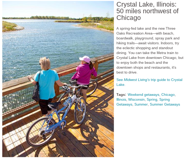 Crystal Lake Makes Midwest Living List Of Weekend Getaways Near