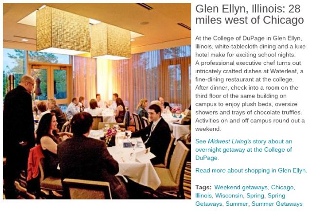 Glen Ellyn Makes Midwest Living List Of Weekend Getaways Near