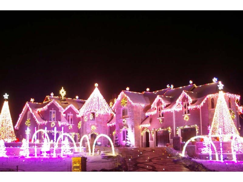 Pink Christmas Lights.The Best Holiday Lights In The Chicago Burbs Geneva Il Patch