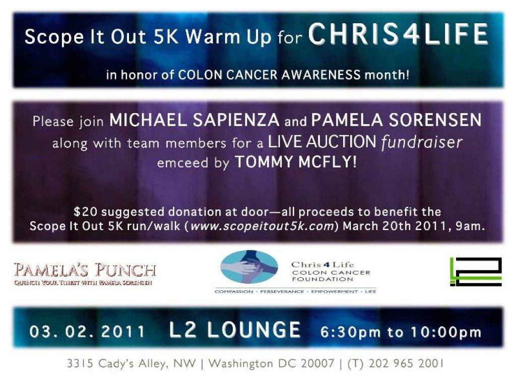 Chris4life Colon Cancer Fundraiser Georgetown Dc Patch