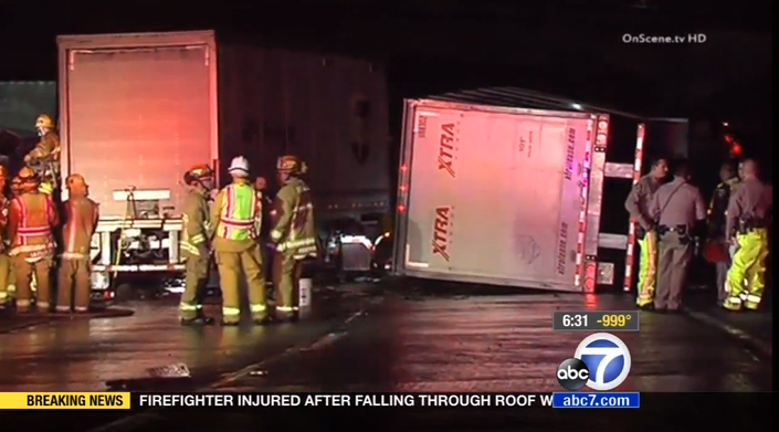 2 Killed in 2 Different Big Rig Crashes on 210 Freeway in