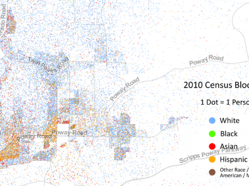 Racial Dot Map Points Out Poway's Demographics | Poway, CA Patch on
