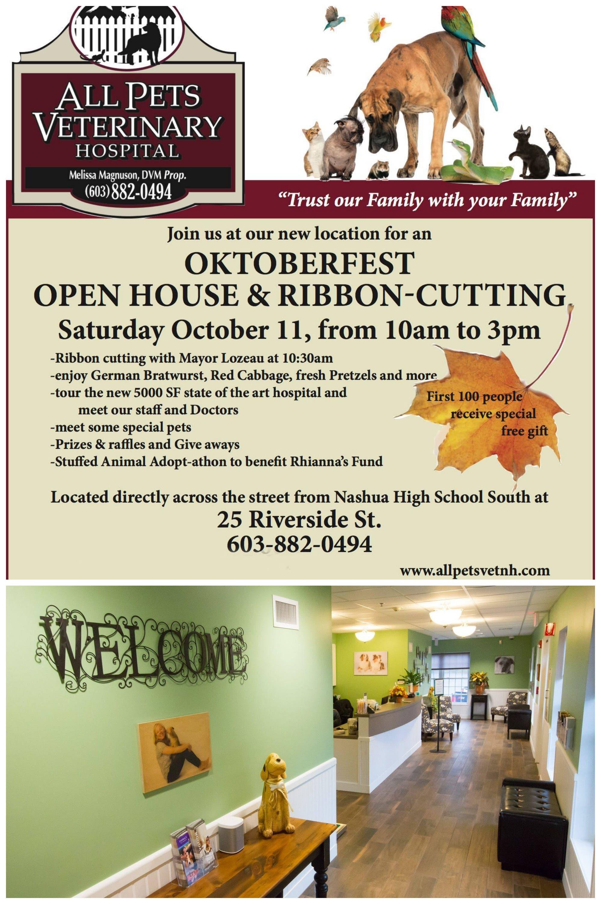 All Pets Veterinary Hospital To Host Grand Opening Oktoberfest
