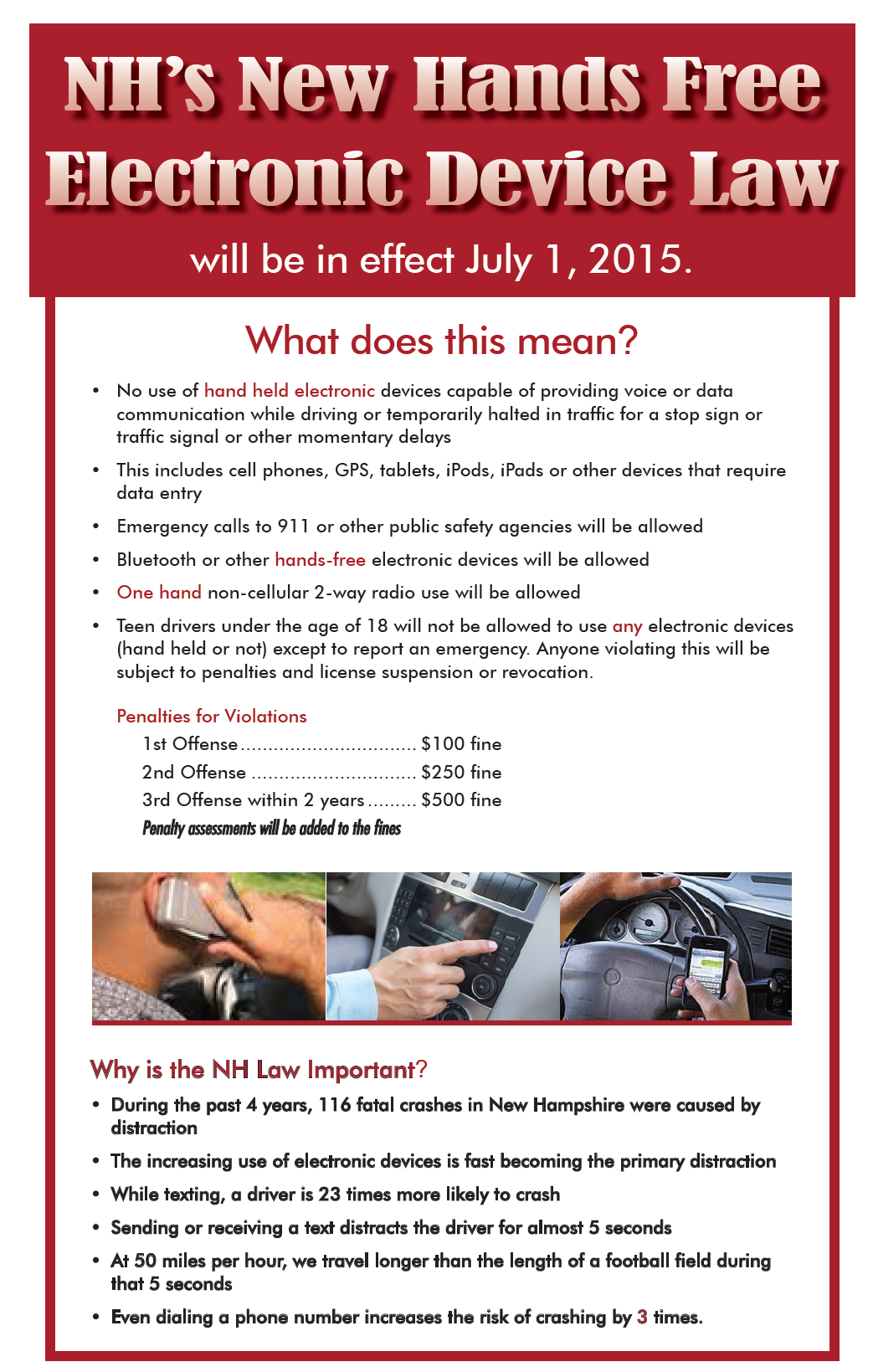 Nh S Hands Free Electronic Device Law Starts July 1 Bedford Nh Patch