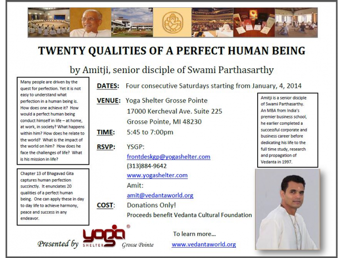267853e738a28 Twenty Qualities of a Perfect Human Being with Amitji
