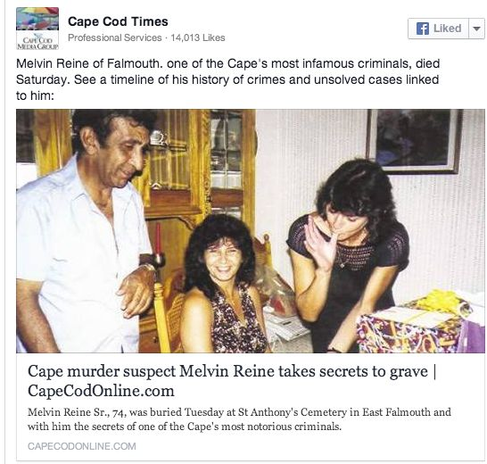 Melvin Reine, 74, 'One of Cape's Most Infamous Criminals