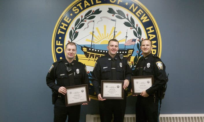 Three Bedford Police Officers Honored | Bedford, NH Patch