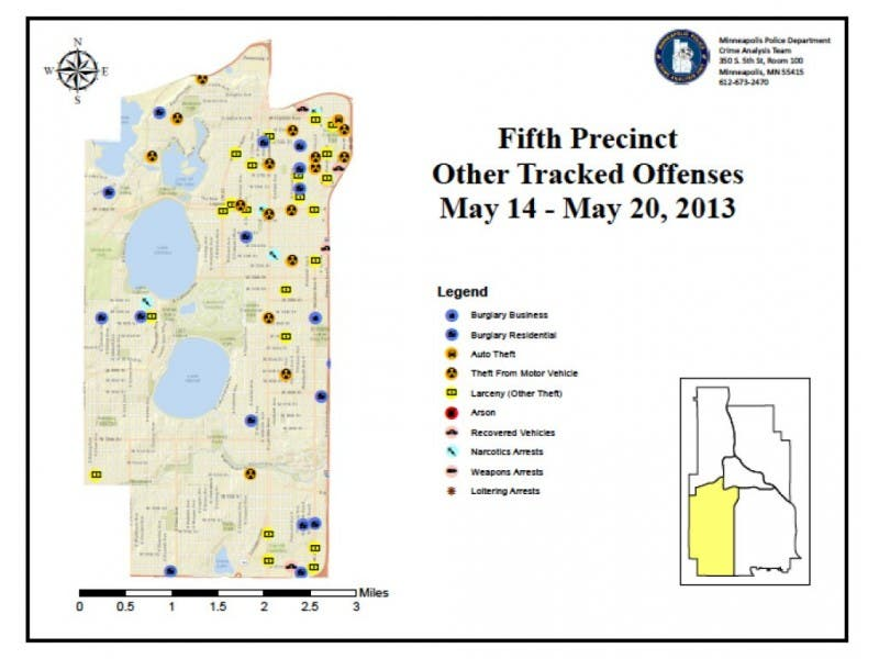 Crime Maps: Thefts From Vehicles, Aggravated Assault & Burglary ...