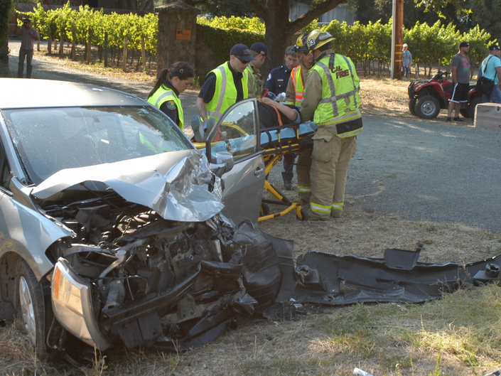 1 Person Taken To Hospital In 3 Car Accident On Silverado Trail Tuesday 0