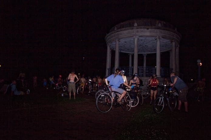 Brighton Naked Bike Ride 2010 - Kevin Meredith aka lomokev