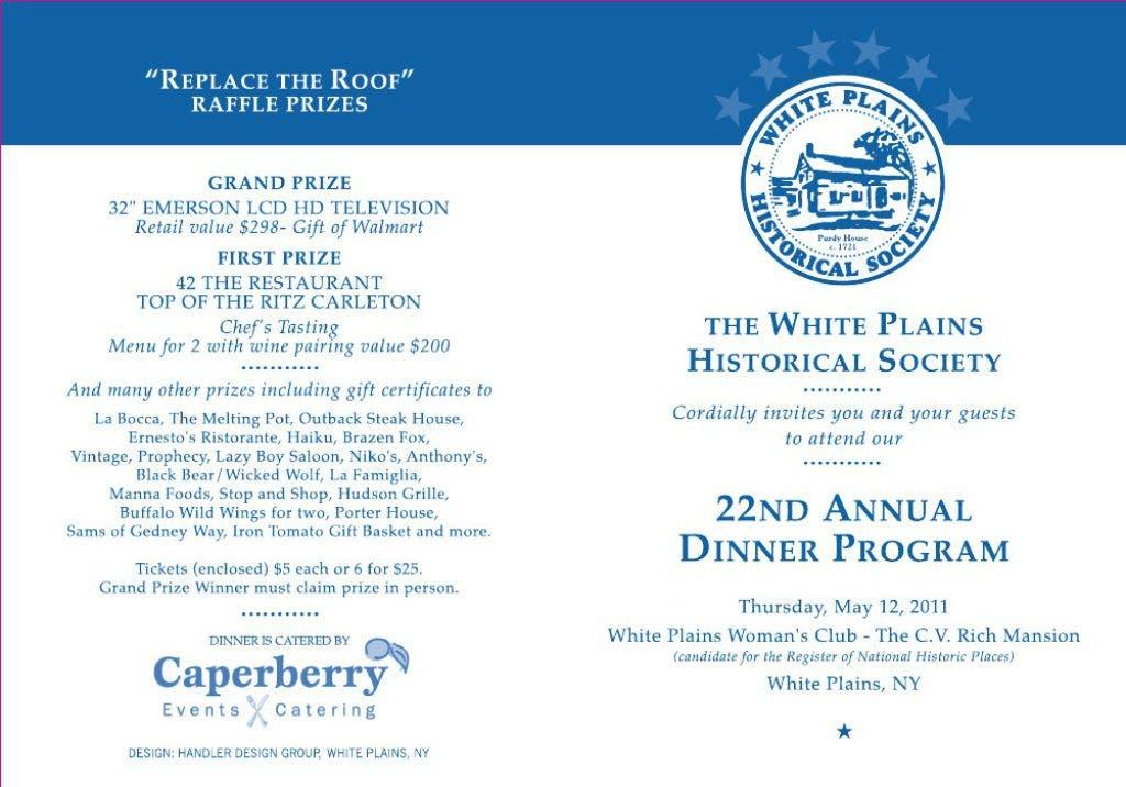 White Plains Historical Society Annual Dinner | White Plains, NY Patch