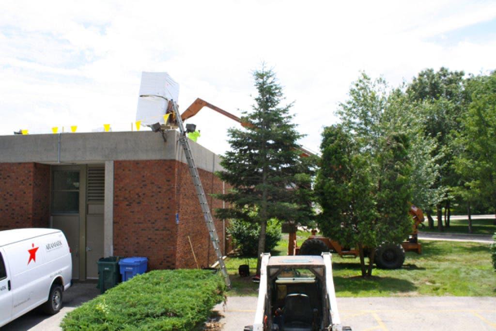 Rain Causes Leaks At High School During Roof Work East