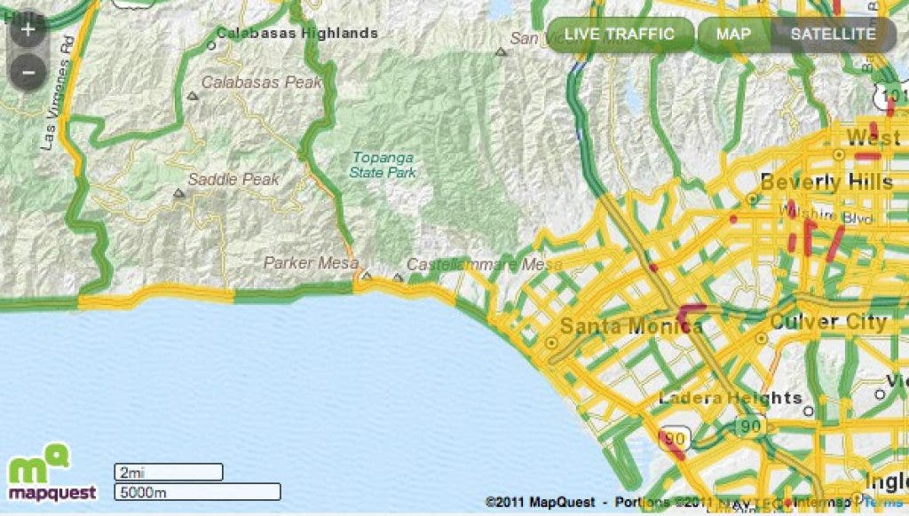 LIVE: Pali Patch Traffic Map | Pacific Palisades, CA Patch on